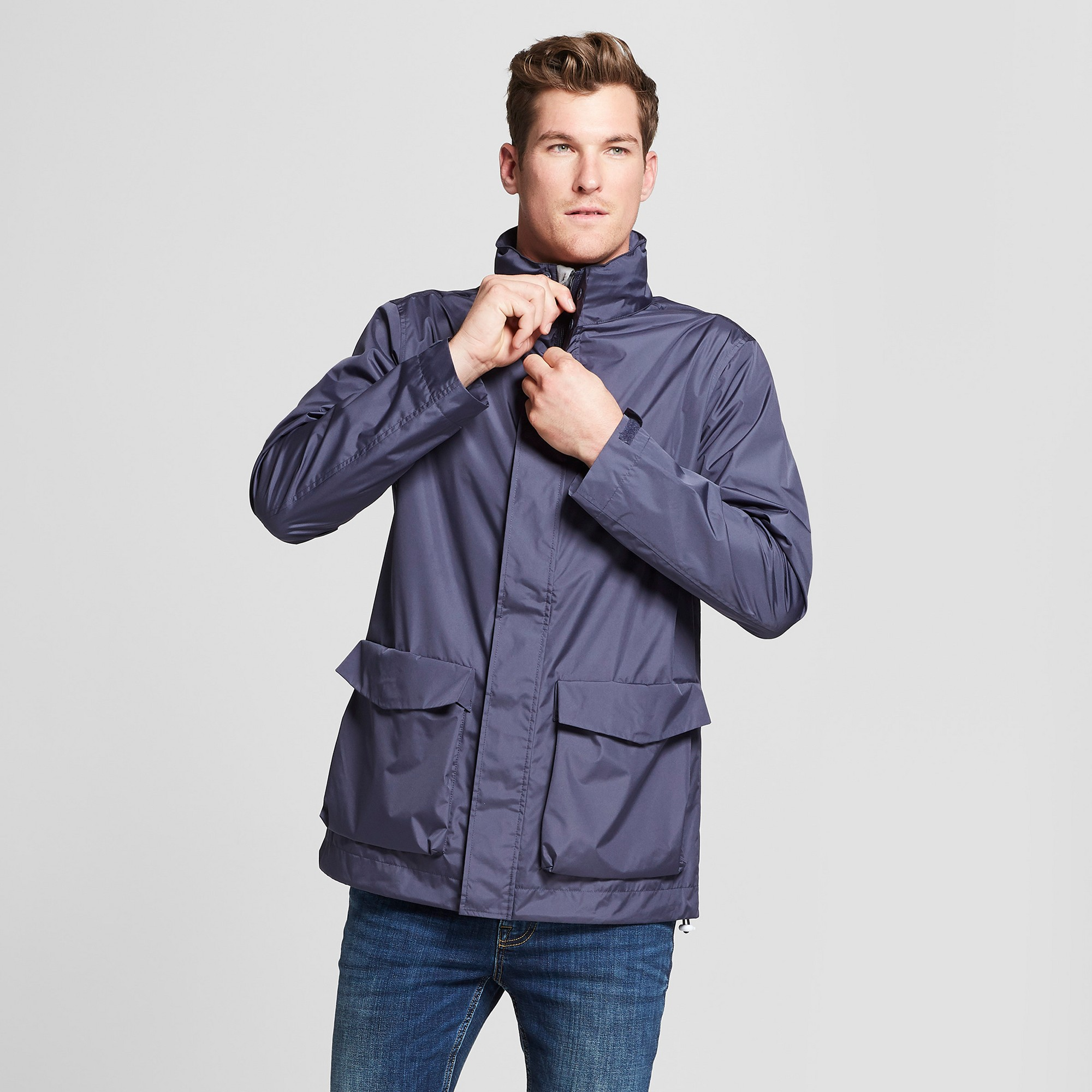 07165adb4 Men's Rain Jacket - Goodfellow & Co Geneva Blue M | Products
