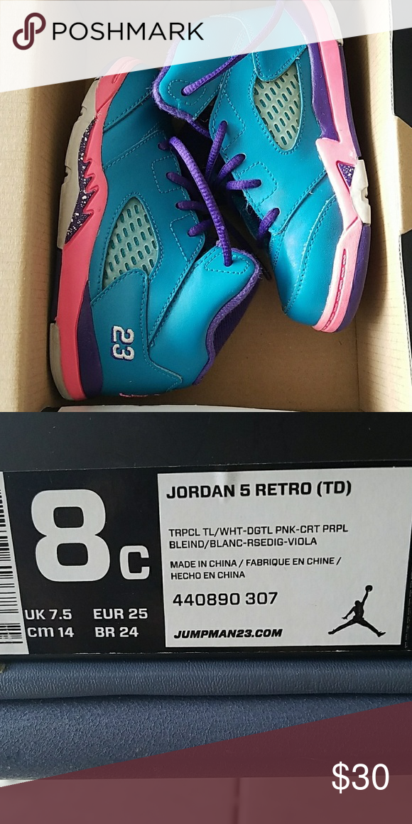 best loved e4427 12d95 Jordan 5 Retro Toddler Girls size 8C BRAND NEW!!!! In ...