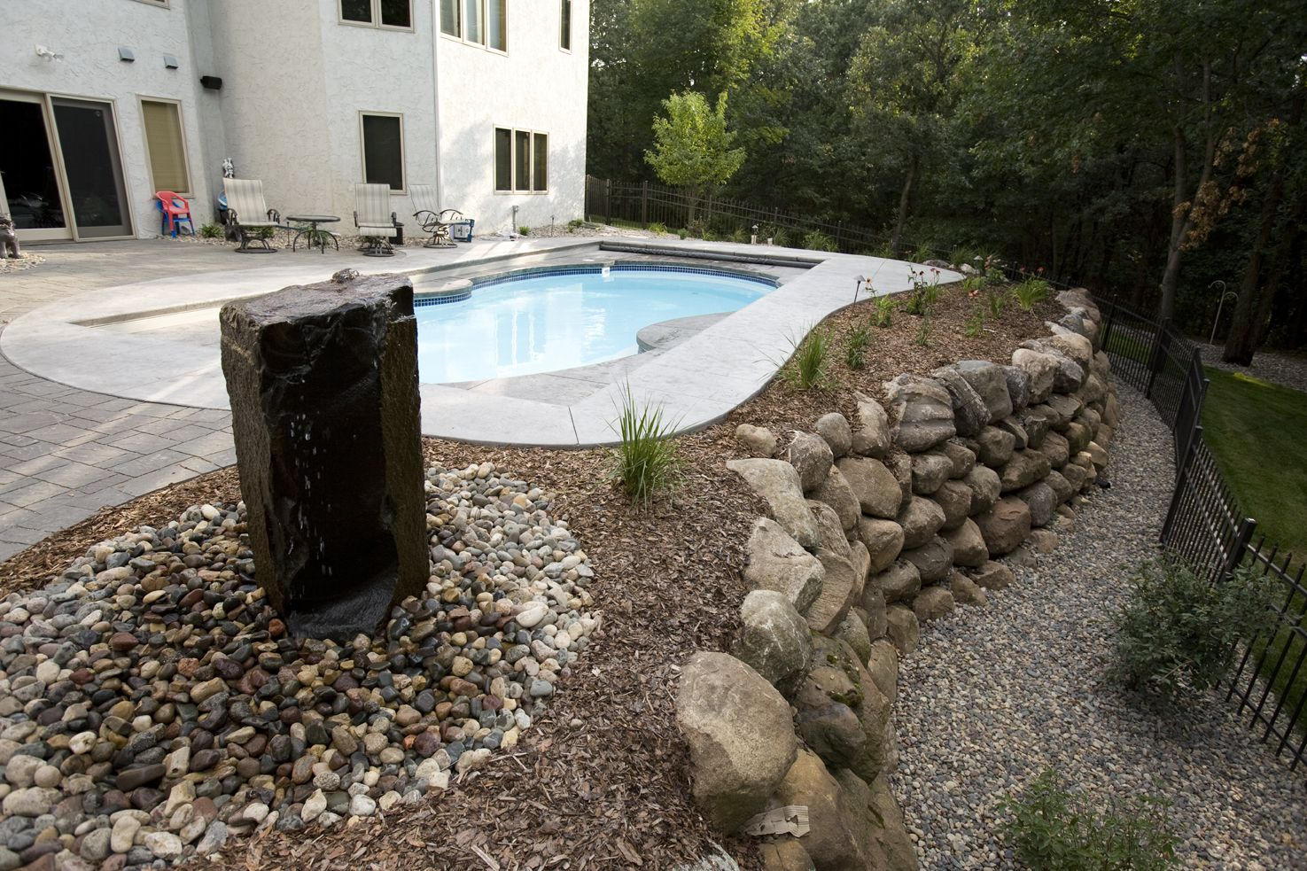 Pools on sloping lots google search ideas for the - Building a swimming pool on a slope ...