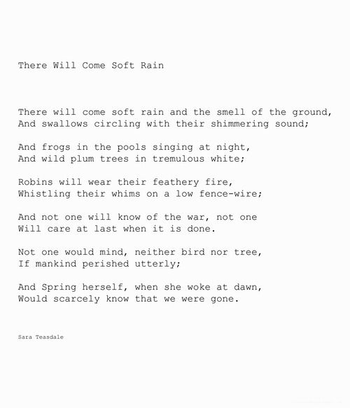 There will come soft rain - Sara Teasdale   Not-Boring Art ...
