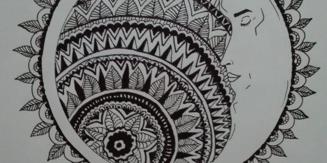 رسم بطريقة الماندالا أسيل نجار طفرة جوز Cards