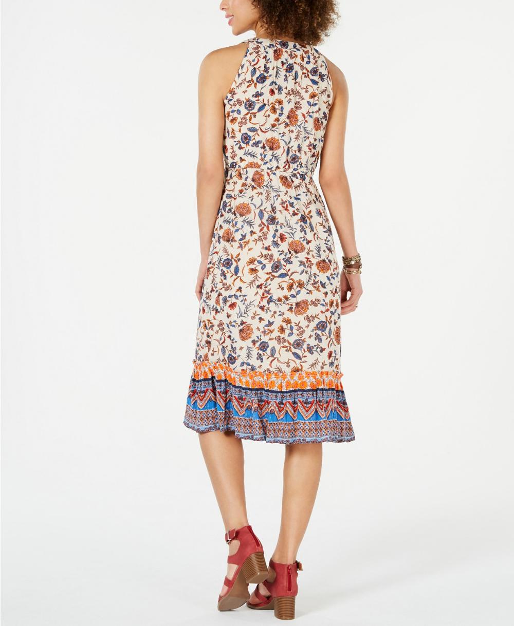 Style Co Paisley Flower Midi Dress Created For Macy S Reviews Dresses Women Macy S Flower Midi Dress Dresses Midi Dress [ 1219 x 1000 Pixel ]