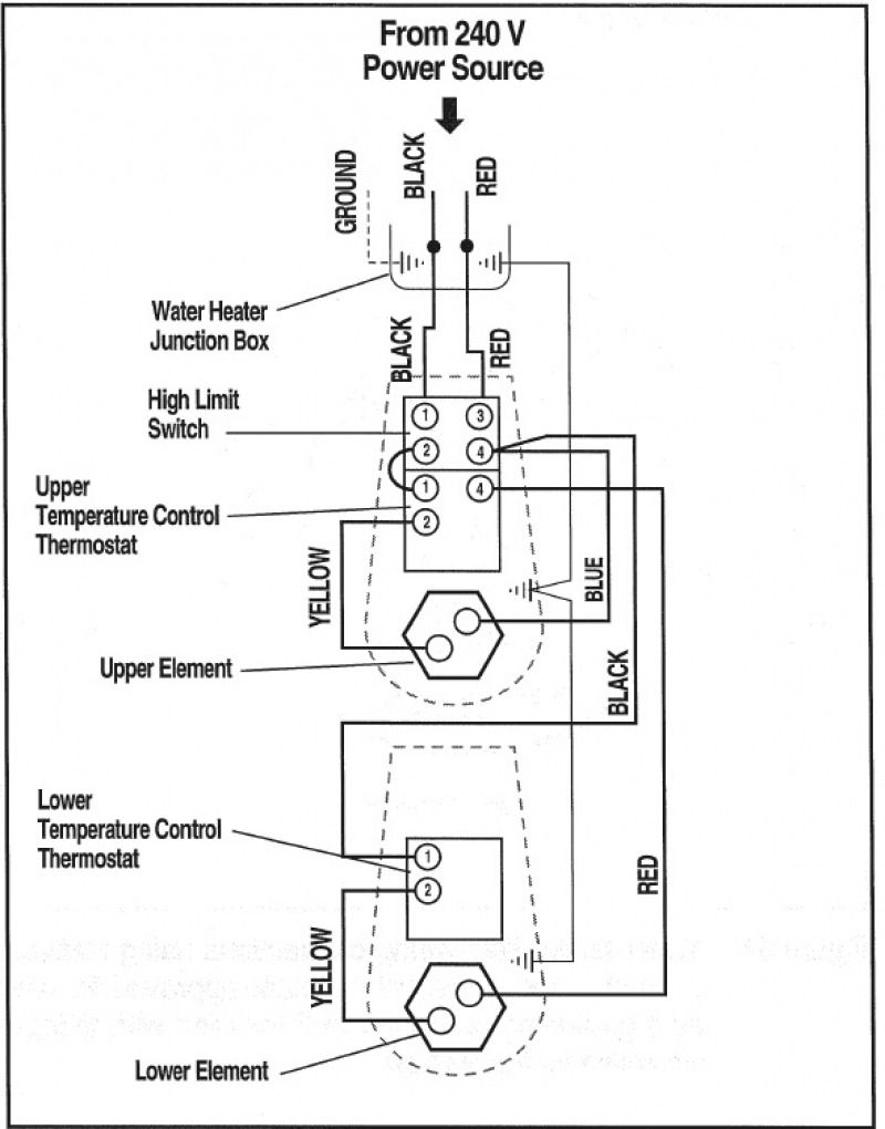 Geyser Circuit Diagram Wiring Schematic Water Heater Electric
