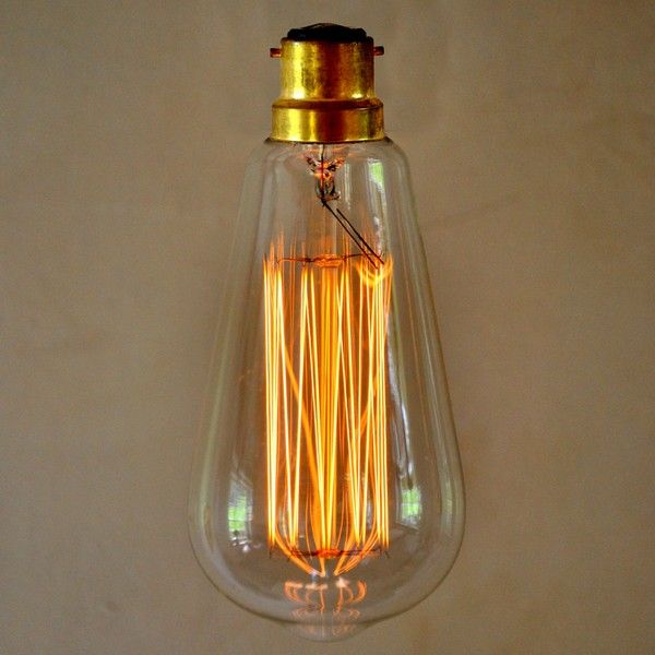 This is our Edison Vintage Light Bulb. It is suitable for a bayonet fitting  It has a Squirrel Cage