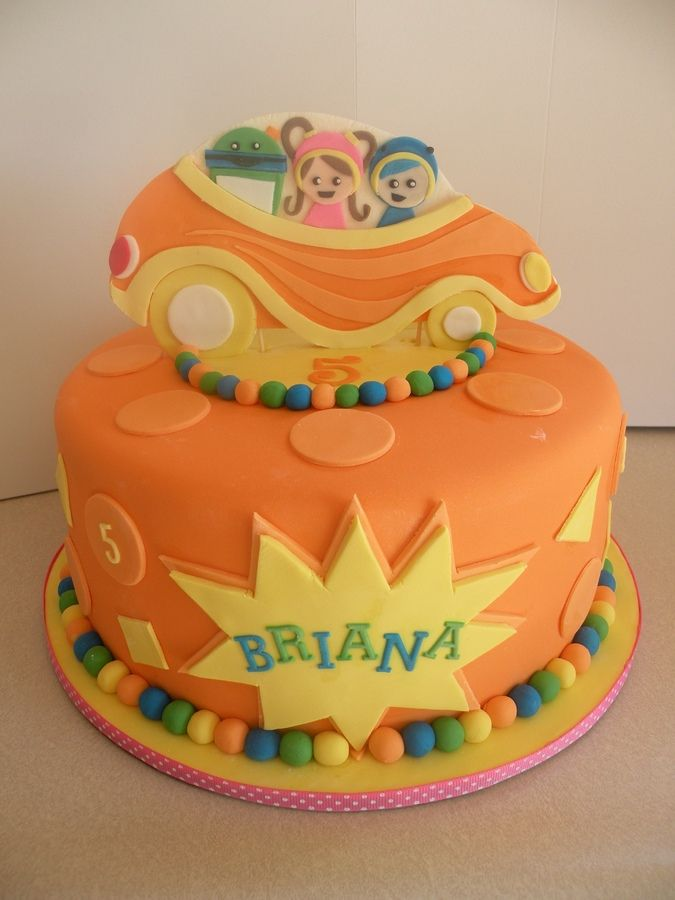 Team Umizoomi Themed Birthday Cake Topper Is Hand Cut Fondant Gumpaste