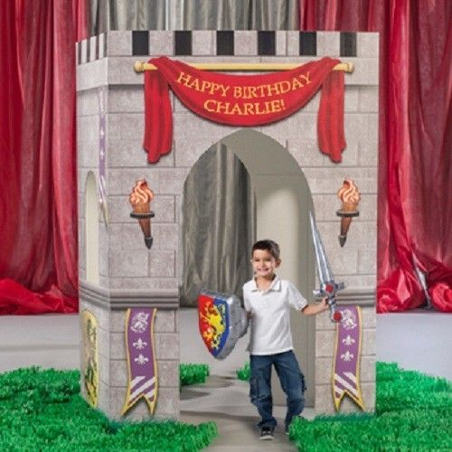 medieval kindom castle arch party decoration birthday princess