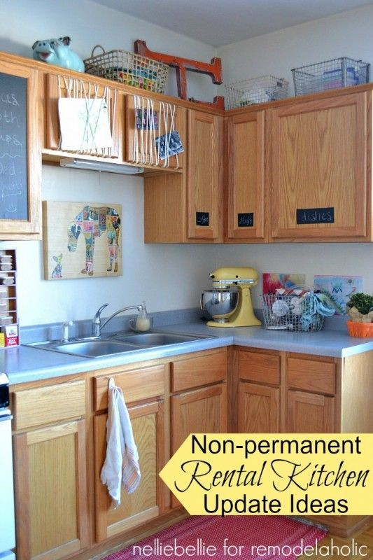 Rental Apartment Kitchen Decorating Ideas ... ideas to decorating rental apartment 06 - Coo Architecture. Quick  non-permanent Kitchen changes for renters!!!
