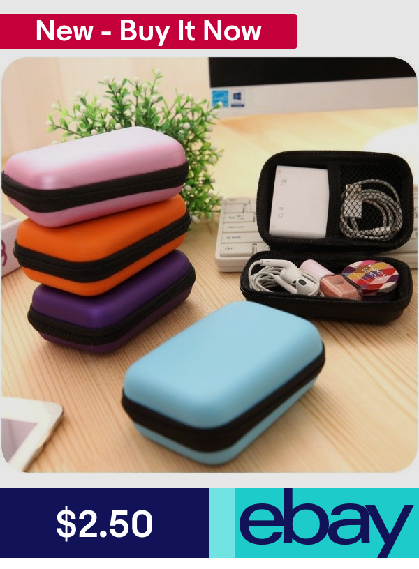 Waterproof Carrying Hard Case Box  Earphone  Storage Pouch Bag US
