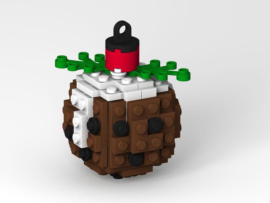 Lego pudding christmas tree ornament legos pinterest lego