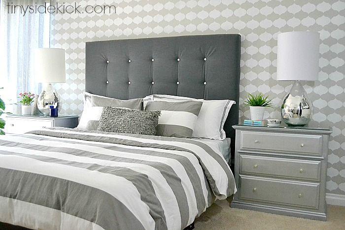 DIY Upholstered Headboard Kopfteil Bett, Stoff Kopfteil, Schlafzimmer Bett,  Zuhause, Moebel Streichen