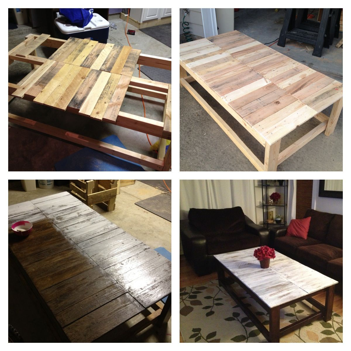 Coffee table with pallet wood