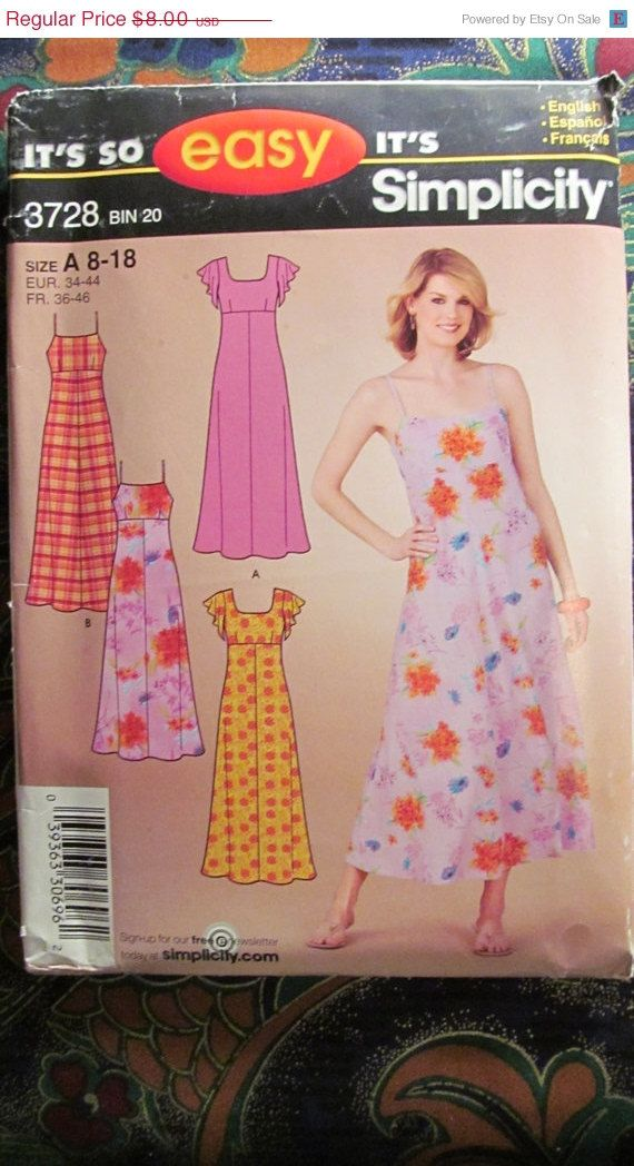 SALE Uncut Simplicity Sewing Pattern 3728 818 by EarthToMarrs, $5.60