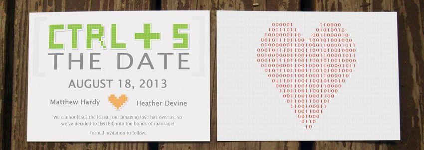 10 wonderfully geeky wedding invitations - Nerdy Wedding Invitations