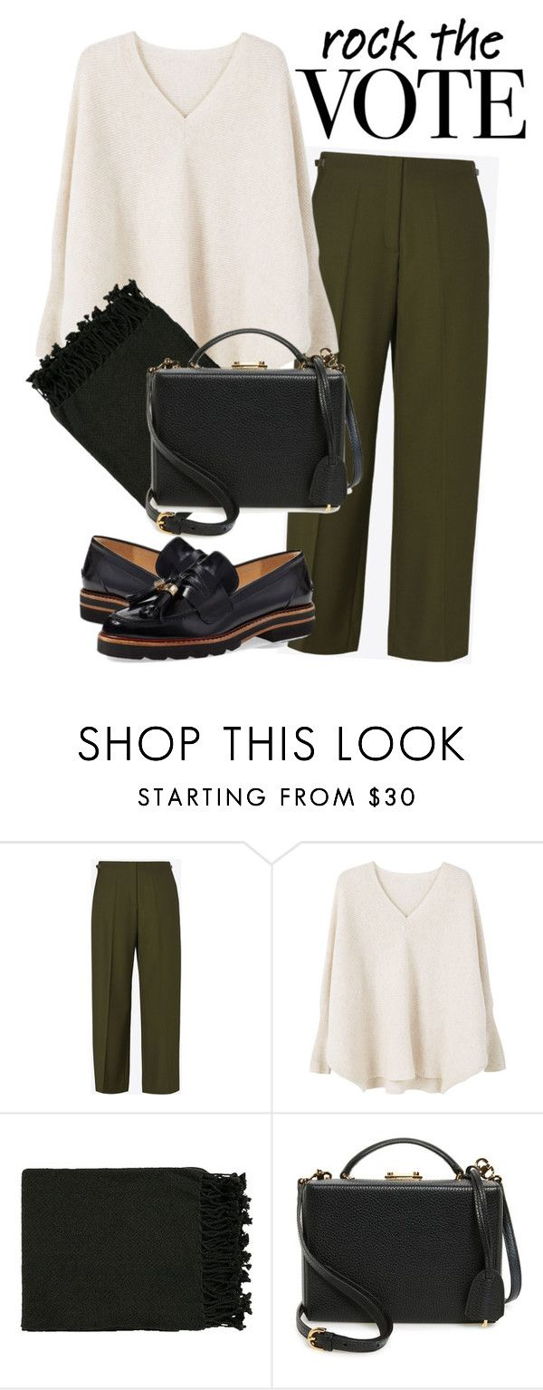 """Rock the Vote in Style"" by newyorker-107 ❤ liked on Polyvore featuring Maison Margiela, MANGO, Surya, Mark Cross, Stuart Weitzman, Winter and rockthevote"