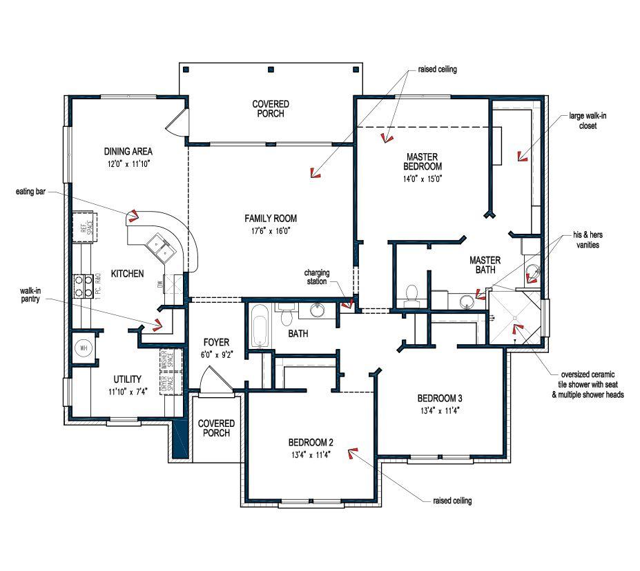 Crockett It S Perfect House Plans Floor Plans Custom Builder