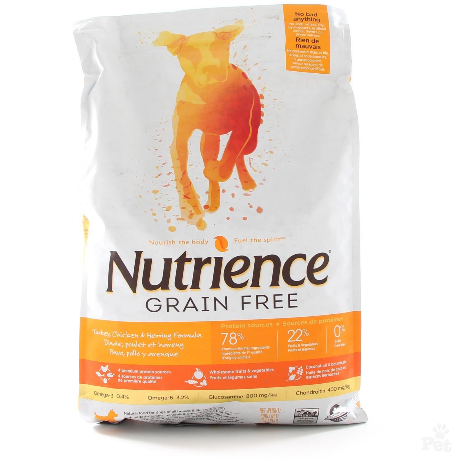 Nutrience Grain Free Chicken Turkey Herring Dog Food Grain
