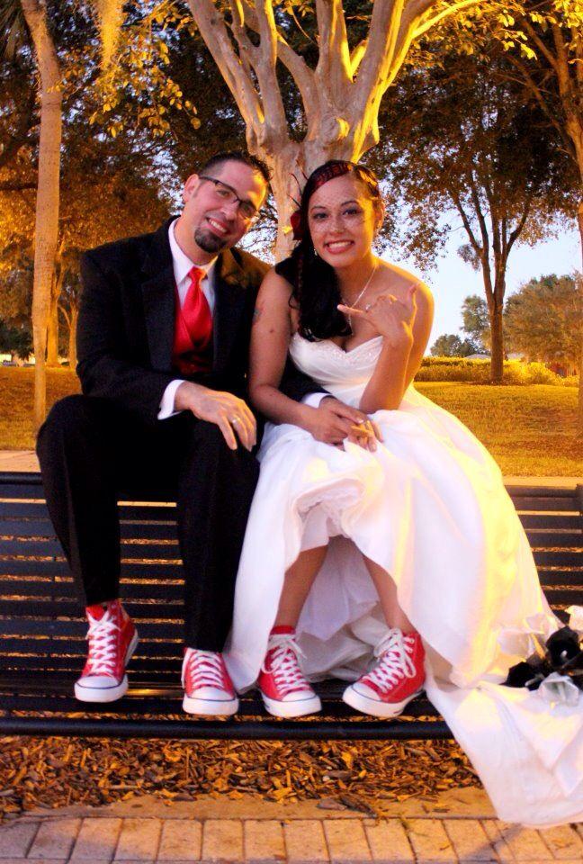 Converse Wedding Red