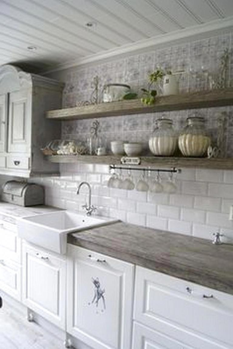 Shabby Chic Kitchen Cabinets Diy Shabbychickitchen Farmhouse Kitchen Backsplash Kitchen Backsplash Designs Farmhouse Kitchen Decor