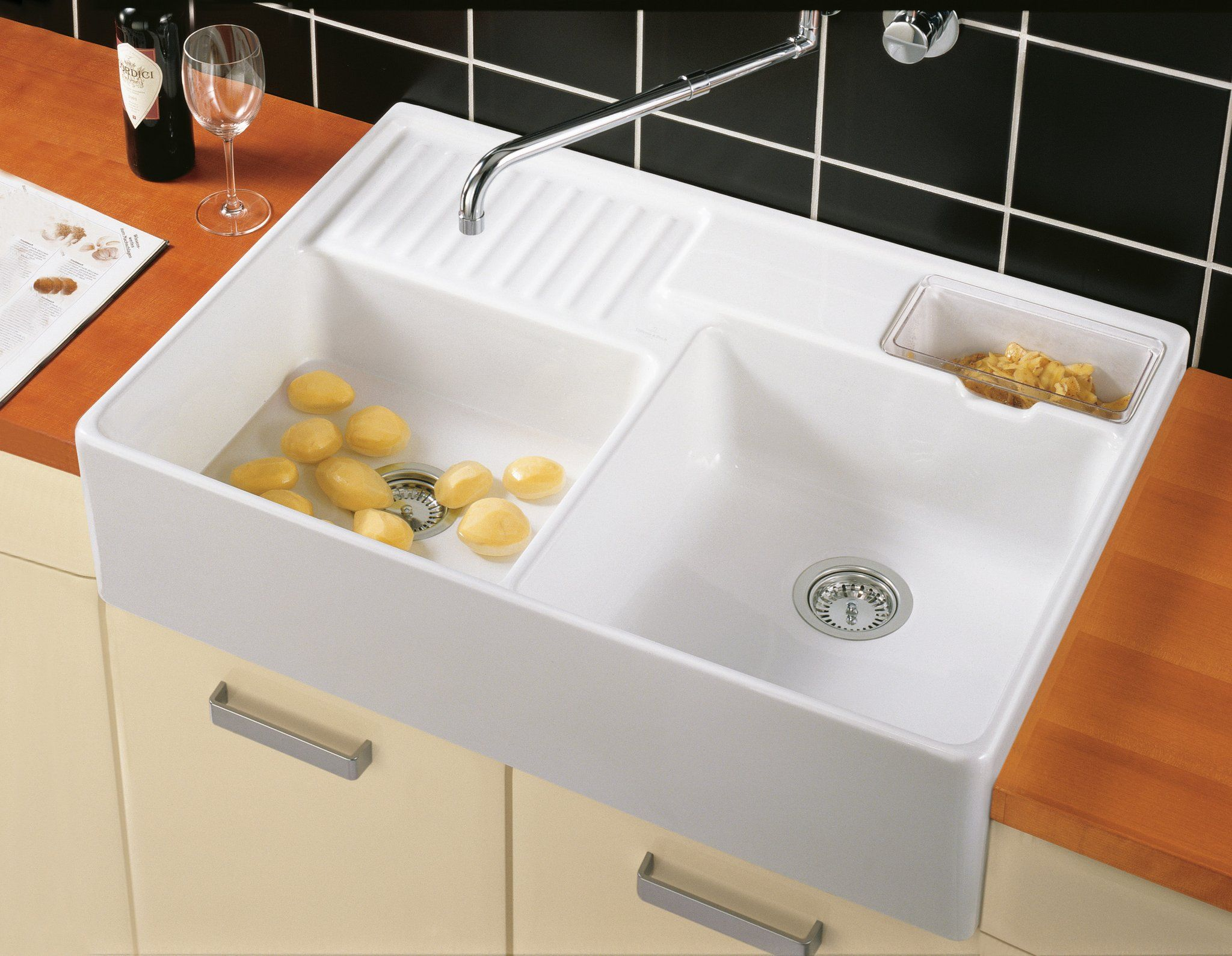 Sink Unit Double Bowl Sink 632391 Villeroy Boch Ceramic Kitchen Sinks Double Kitchen Sink Kitchen Sink Decor
