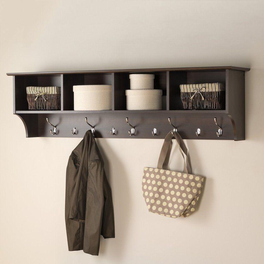 Hallway hooks and storage  Hook Mounted Coat Scarves Bags Rack Outerwear Storage Hallway Home