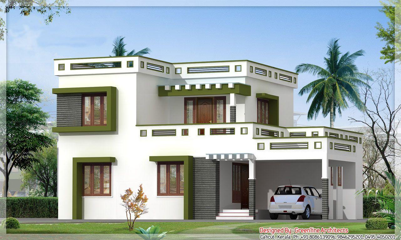 House models in kerala homes floor plans balcony design flat simple also rh pinterest