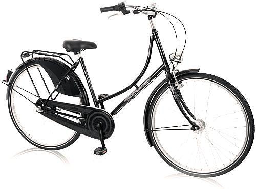Nostalgie Fahrrad Hollandrad Damen 28 Zoll schwarz 3 Gang