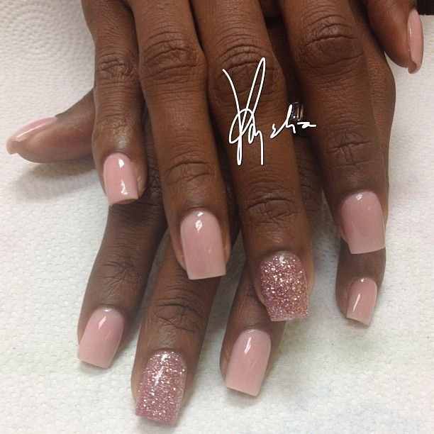 Tammy Taylor colored acrylic over natural nails.. medium full ...