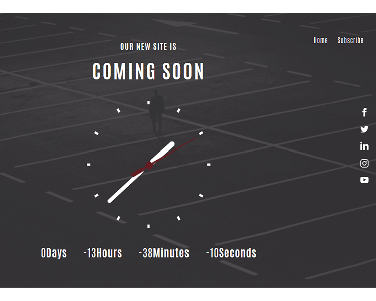Free html countdown widget template for upcoming website
