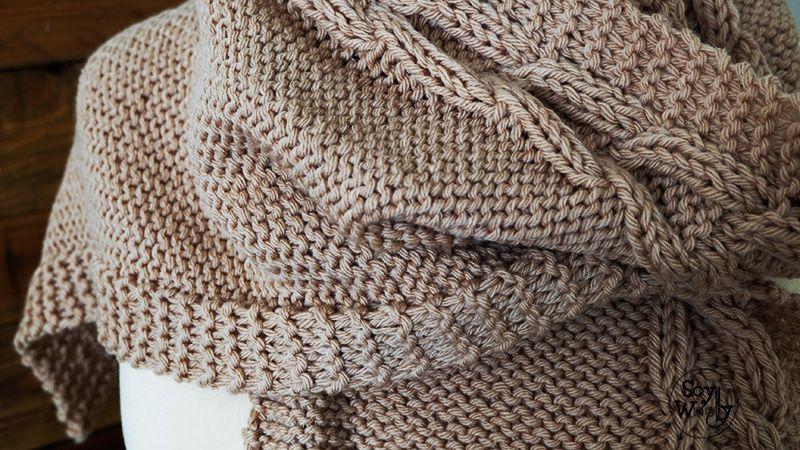 Como hacer bufanda con capucha tejida de punto tutorial-Soy Woolly ...
