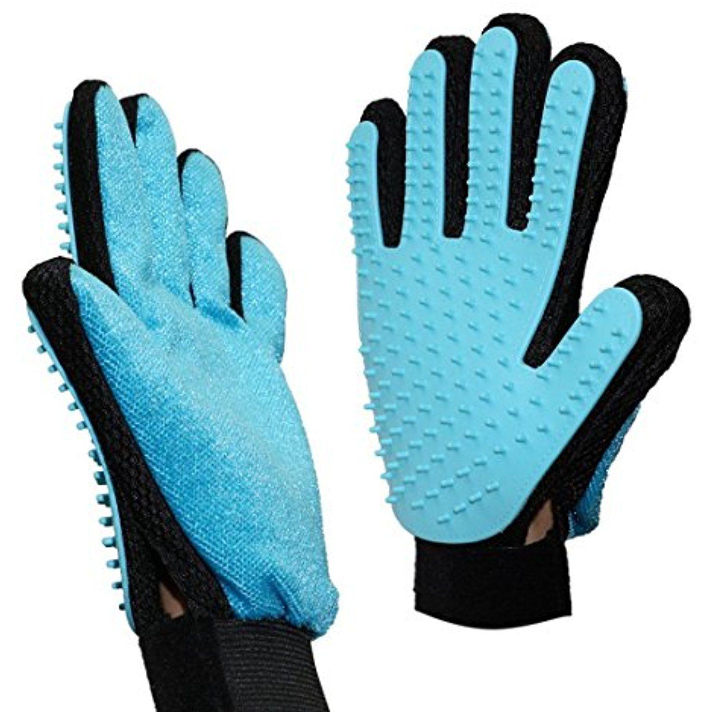 2 in 1 Pet Grooming Glove, Gentle and Efficient Deshedding