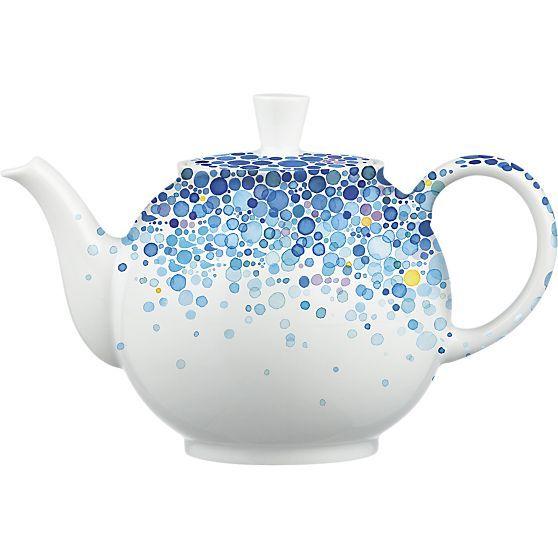 April Teapot By Nomoco In 50th Anniversary Teapots Crate And Barrel Tea Pots Tea Ceramic Teapots