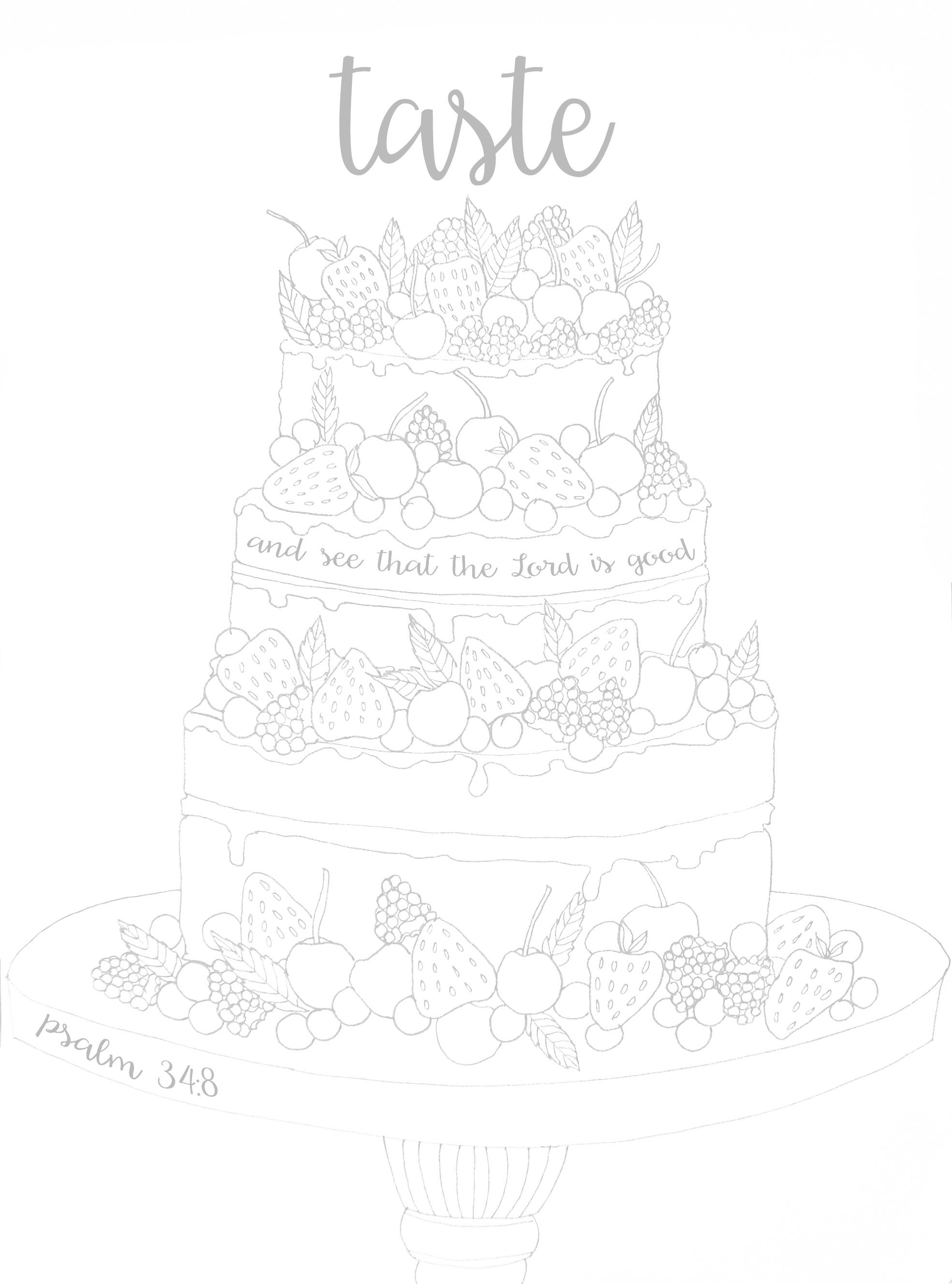 Colouring Sheet Based On Psalm 34 Taste Amp See That The