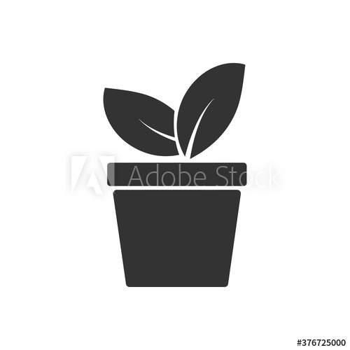 Plant In Flower Pot Icon Vector Buy This Stock Vector And Explore Similar Vectors At Adobe Stock Adobe Stock Flower Pots Plants Vector