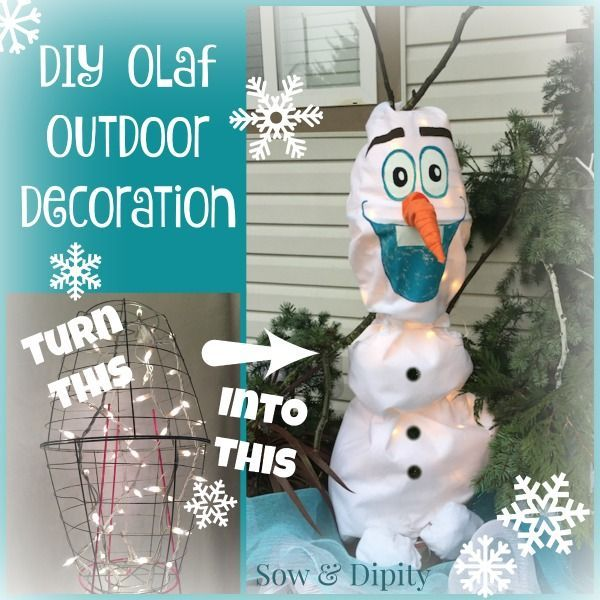 diy olaf outdoor christmas decoration made out of garden shed items awesome and cheap - Olaf Outdoor Christmas Decoration