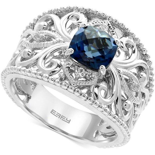 Effy London Blue Topaz (1-3/4 Ct. T.w.) And White Sapphire