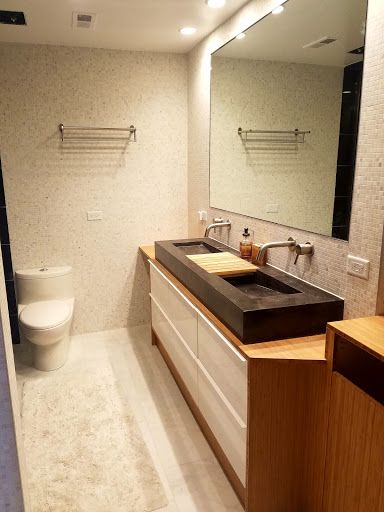 Godmorgon de contreplaqué de bambou pour un meuble de salle de bain