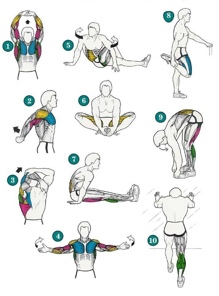 After workout stretches