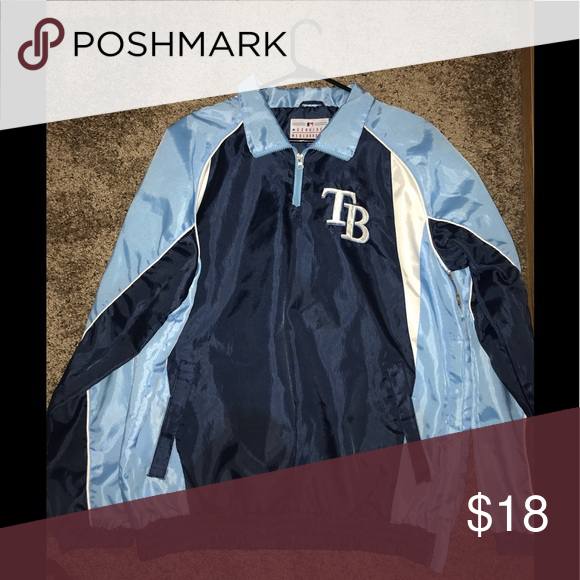 Vintage Tampa Bay Rays Jacket Jackets Lightweight Shirts Shirt Jacket