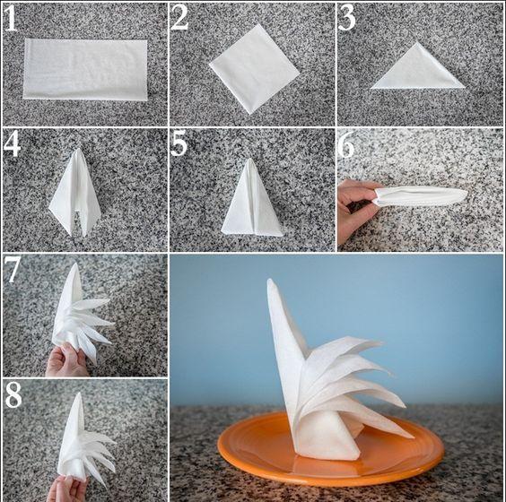 servietten falten anleitung f r 10 festliche formen hochzeiten pinterest pliage. Black Bedroom Furniture Sets. Home Design Ideas