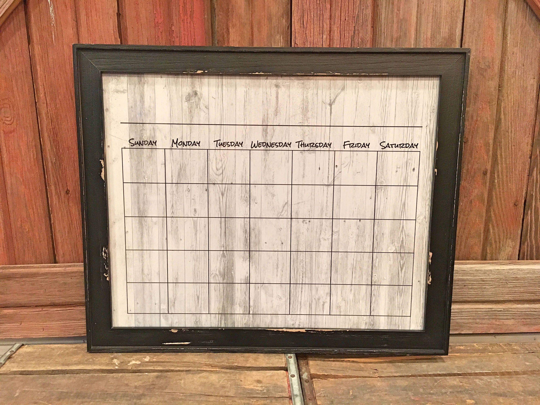 Dry erase calendar 16x20 whitewash wood background customize dry erase calendar 16x20 whitewash wood background customize rustic picture frame jeuxipadfo Images