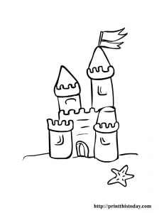 Free Printable Sand Castle Coloring Page For Kids Summer
