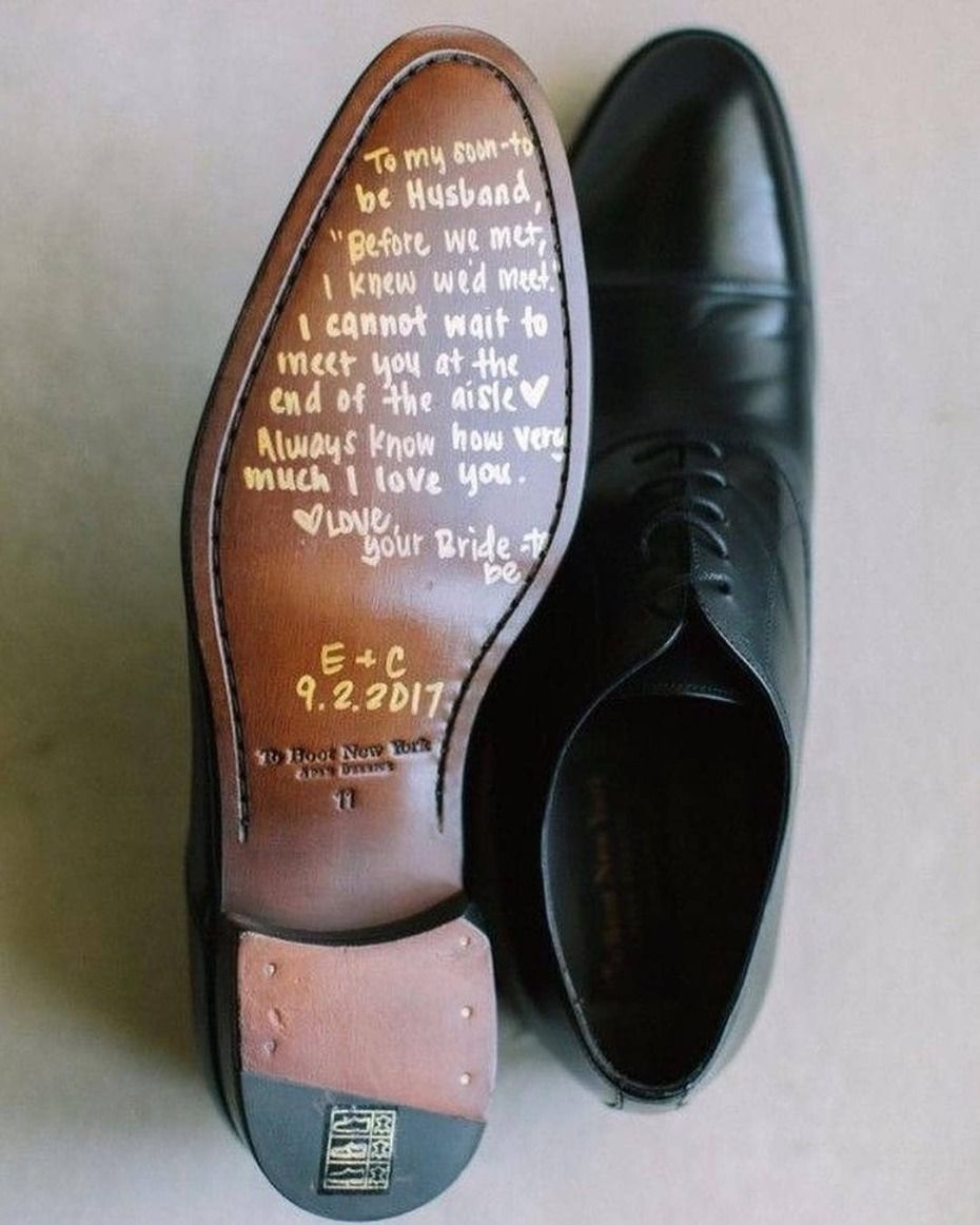 41 Unique Wedding Gift Ideas For Bride And Groom In 2020: 6 Things To Write On The Bottom Of Your S.O.'s Shoes