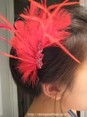 hair brooch fancy ribbon fascinator accessories head clips special pink bling