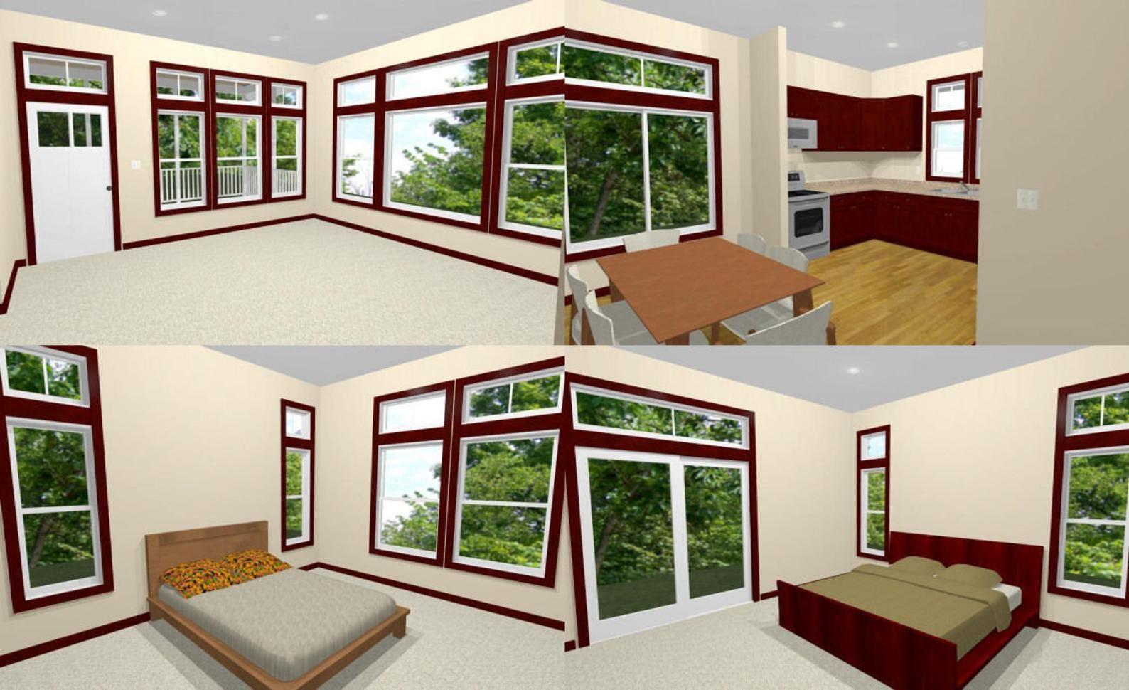 30x40 House 2Bedroom 2Bath 1,136 sq ft PDF