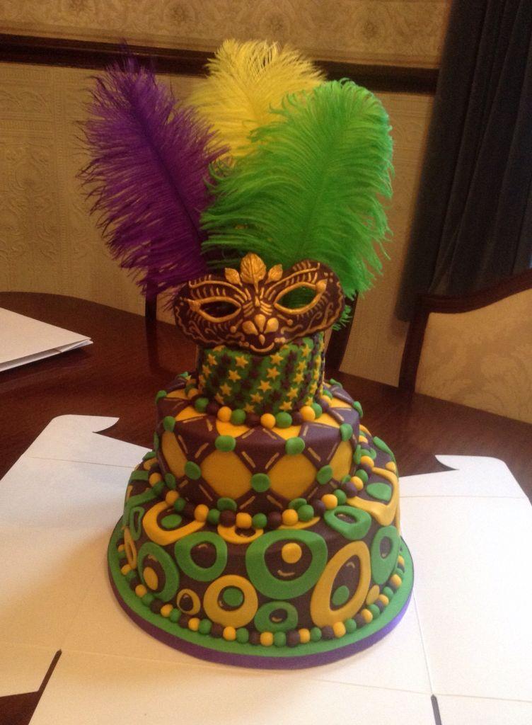 Mardi Gras Birthday Cake From Cakes By Nicky Cakes By Nicky