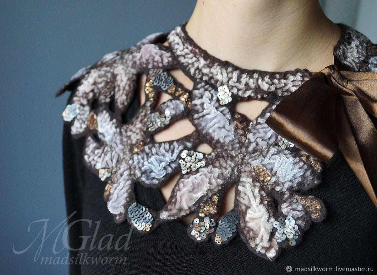 купить ажурный воротничок для платья
