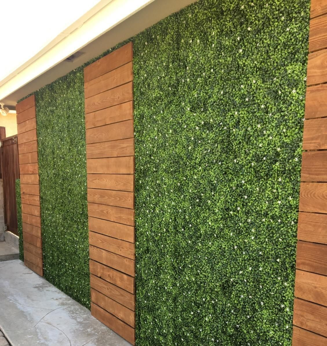 2019 Artificial Plant Wall Hedge Lawn Boxwood Hedge Artificial Lawn Garden Backyard Home Decor S…   Garden wall decor, Outdoor gardens design, Artificial plant wall
