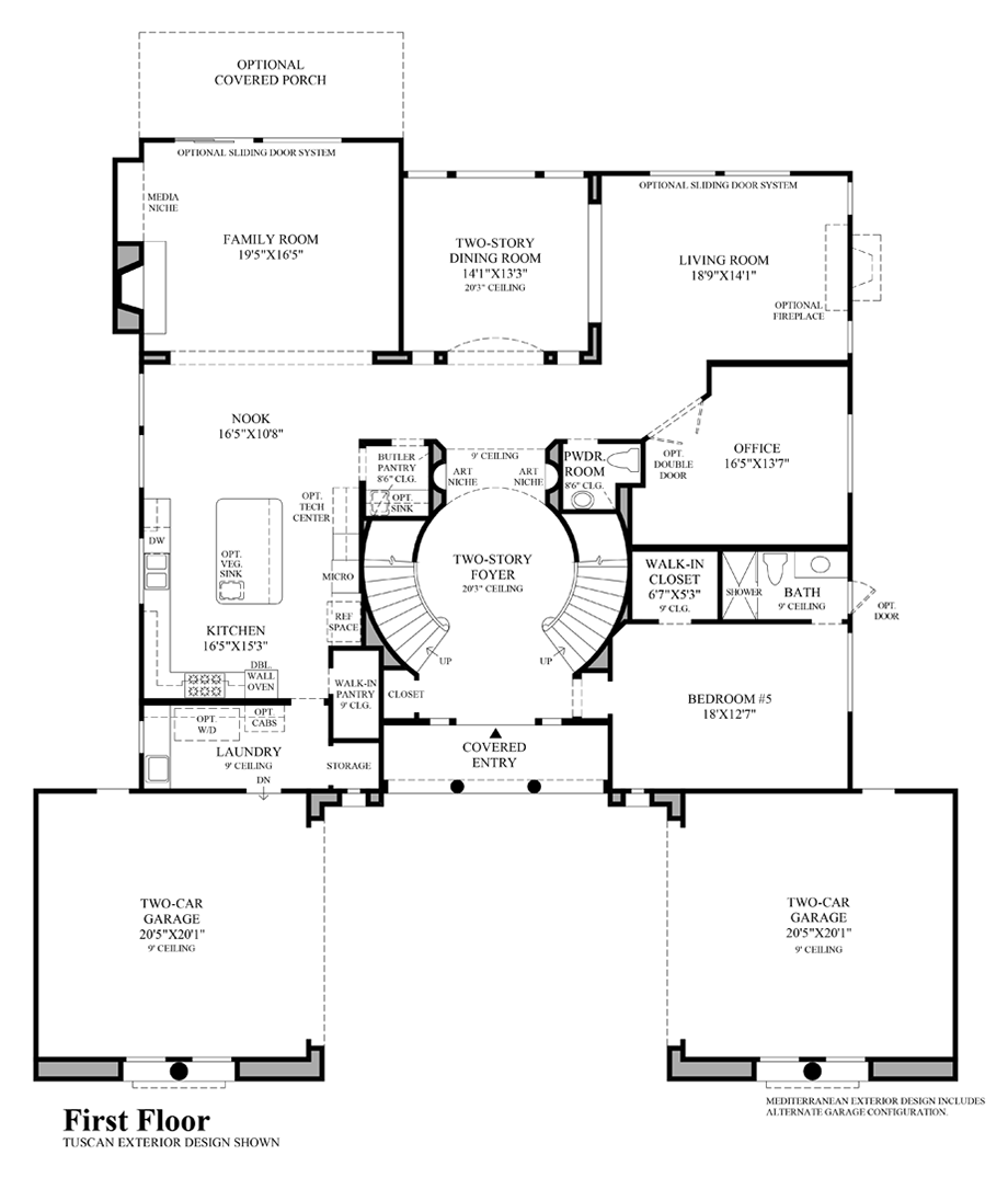 The Pinnacle At Moorpark Highlands The San Clemente Home Design Courtyard House Plans Model House Plan House Layout Plans
