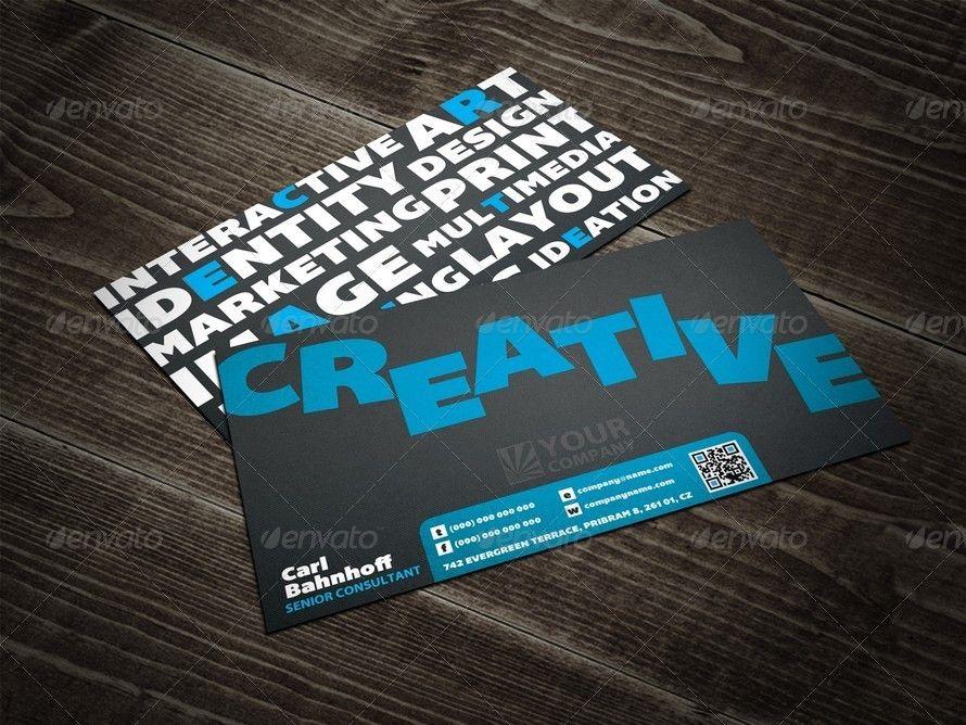 Creative Keywords Qr Business Card Business Cards Creative Modern Business Cards Business Cards