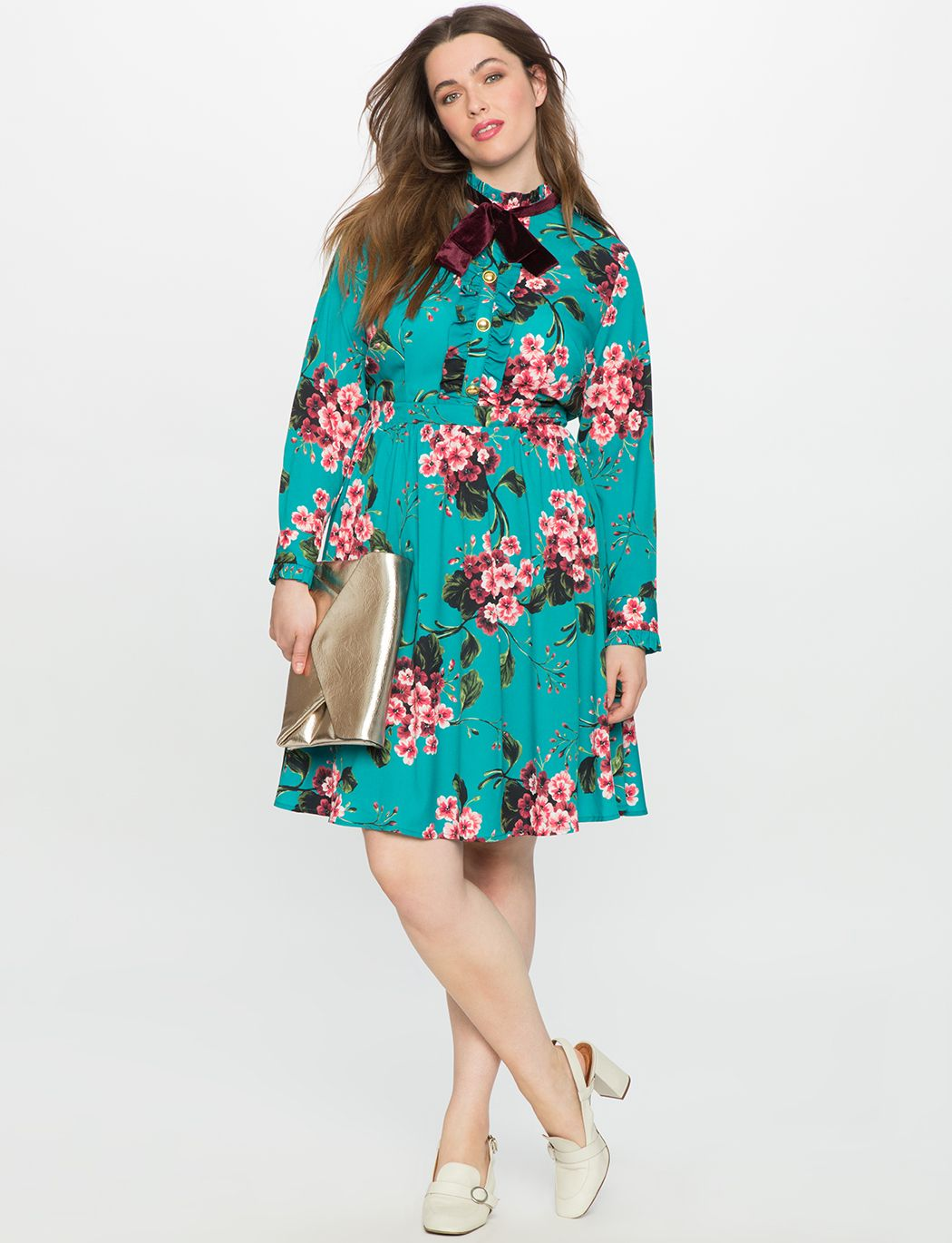 fbe47a16d215 Floral Ruffle Fit and Flare Dress Pansy Play